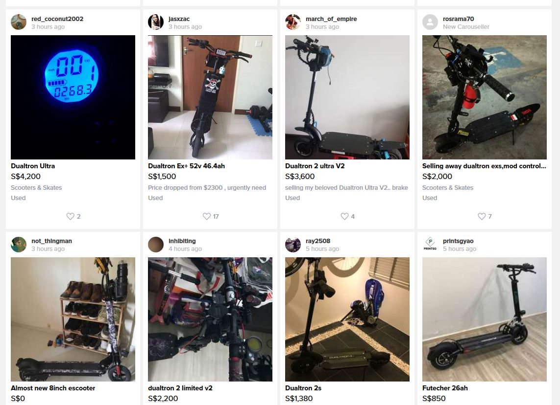 No one is surprised you can buy cheap e-scooter on Carousell, so netizens laugh at the sellers instead - Alvinology