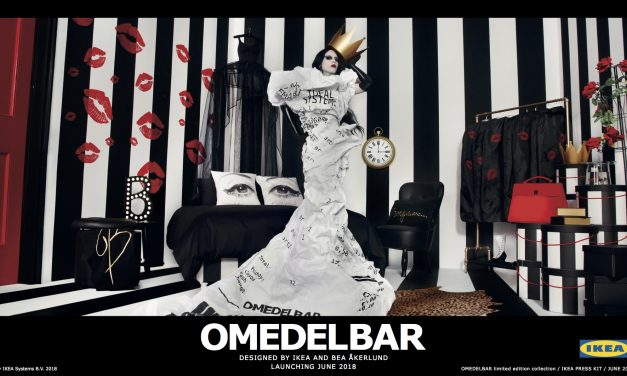 Goth meets Hollywood glamour at IKEA's new OMEDELBAR collection