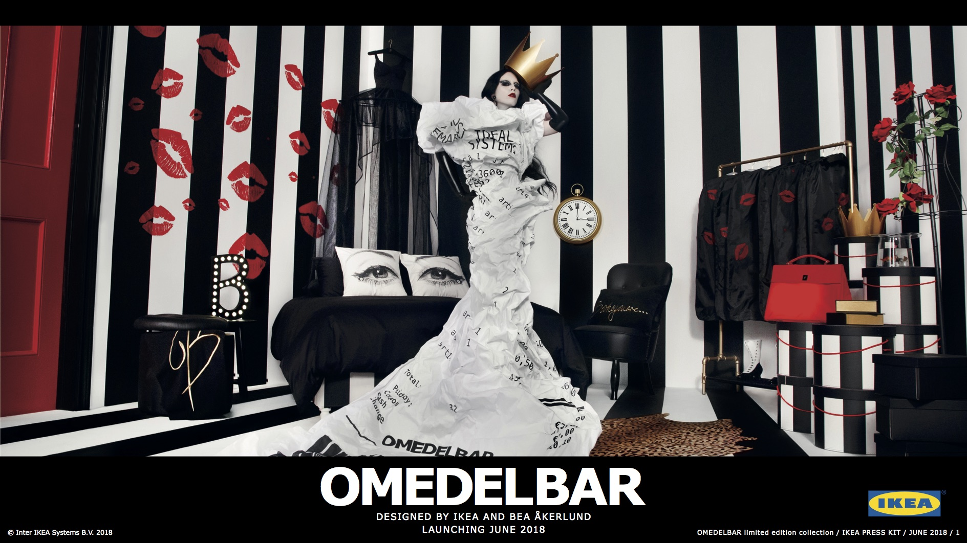 Goth meets Hollywood glamour at IKEA's new OMEDELBAR collection - Alvinology