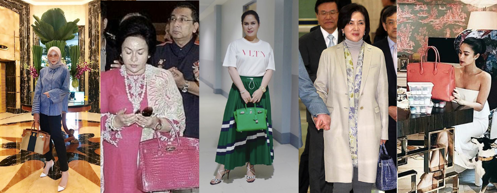 Asian women with famous Hermès Birkin bag collections