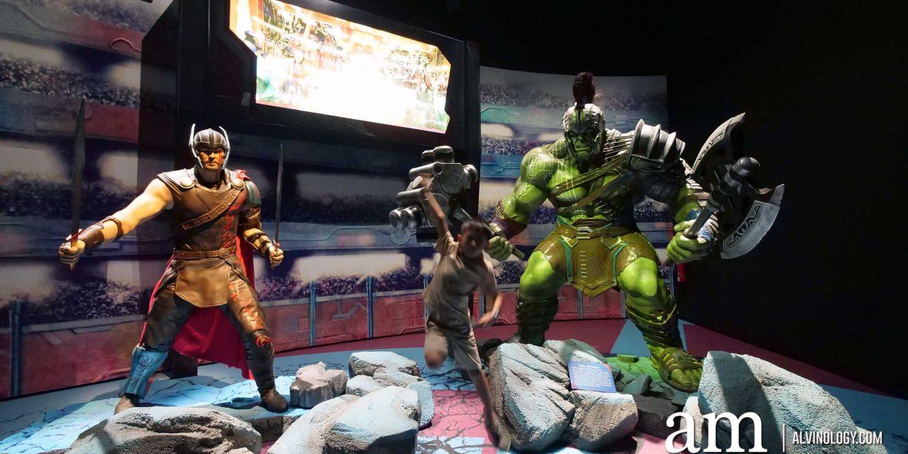 Marvel Studios: Ten Years of Heroes exhibition @ Artscience Museum, Marina Bay Sands