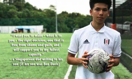 A Singaporean Dad's letter to his son (if his son was Ben Davis)