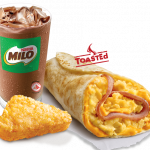 You'll surely get up for this KFC Chicken Ham Twister and Iced Milo meal