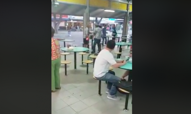 Toa Payoh Hawker Centre fight between elderly goes viral, police appeal for information