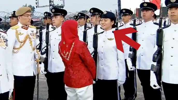Who is Gorgina Choo? The Chiobu Guard of Honour President Halimah Yacob Spoke to at NDP 2018