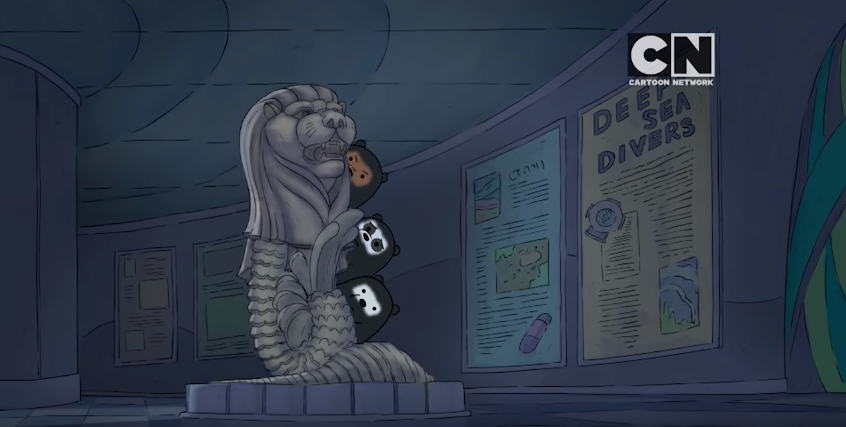 Singapore's Merlion appears in a cameo in We Bare Bears cartoon on National Day