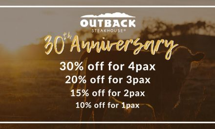 [PROMO CODE INSIDE] Get up to 30% OFF at Outback Steakhouse in Singapore when you dine with 4 or more pax