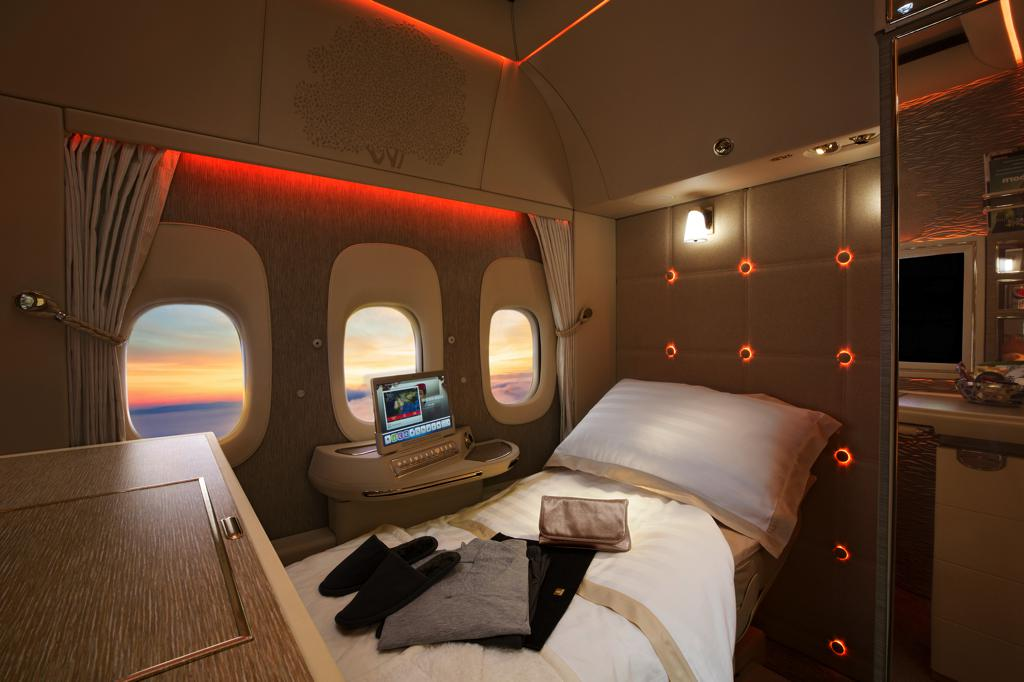 Emirates' Game-Changing First Class Private Suites Win Gold at the Future Travel Experience Global Awards - Alvinology