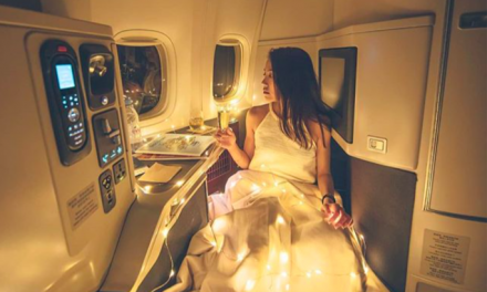 Hong Kong Influencer Harimao Lee covers herself in Christmas lights on a business class flight and people are shookt