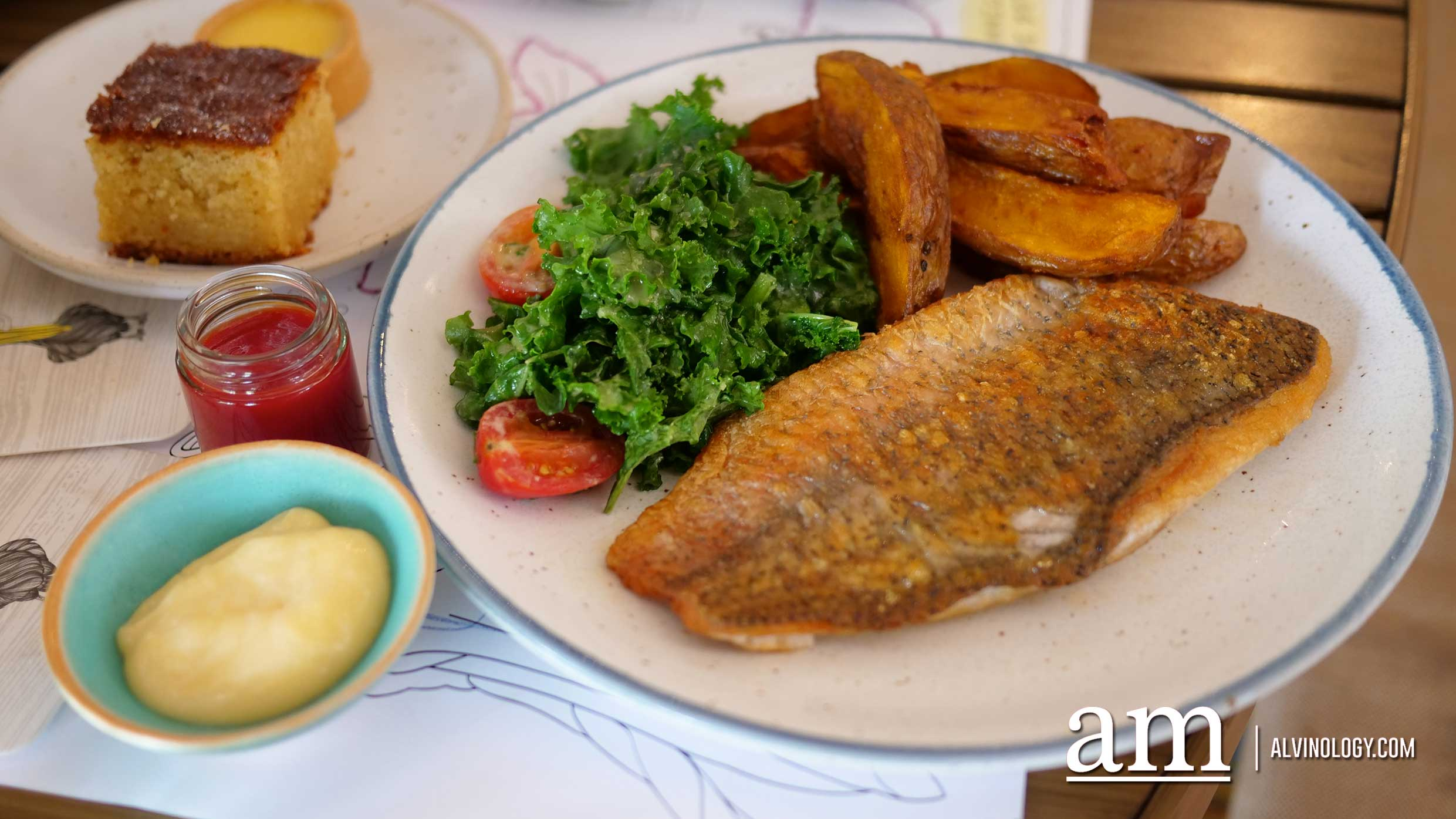 Grilled fish and chips (S$28)