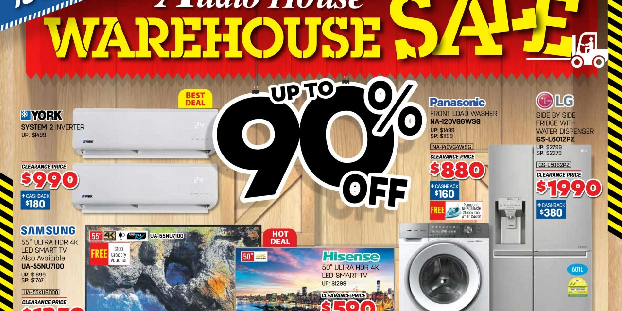 [Lobang Alert] Audio House Warehouse Sale – Up to 90% Off + 20% Cashback in e-Vouchers + Additional 7% GST Rebate