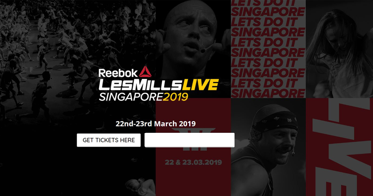Reebok Les Mills Live is back in Singapore on March 2019