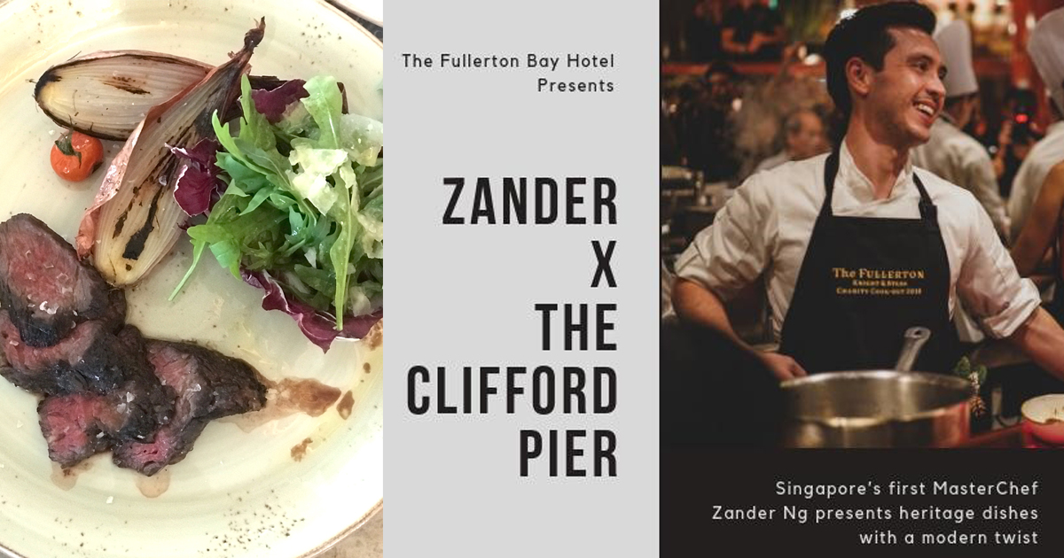 Singapore's First MasterChef Zander Ng whips up a modern feast at The Clifford Pier - Alvinology