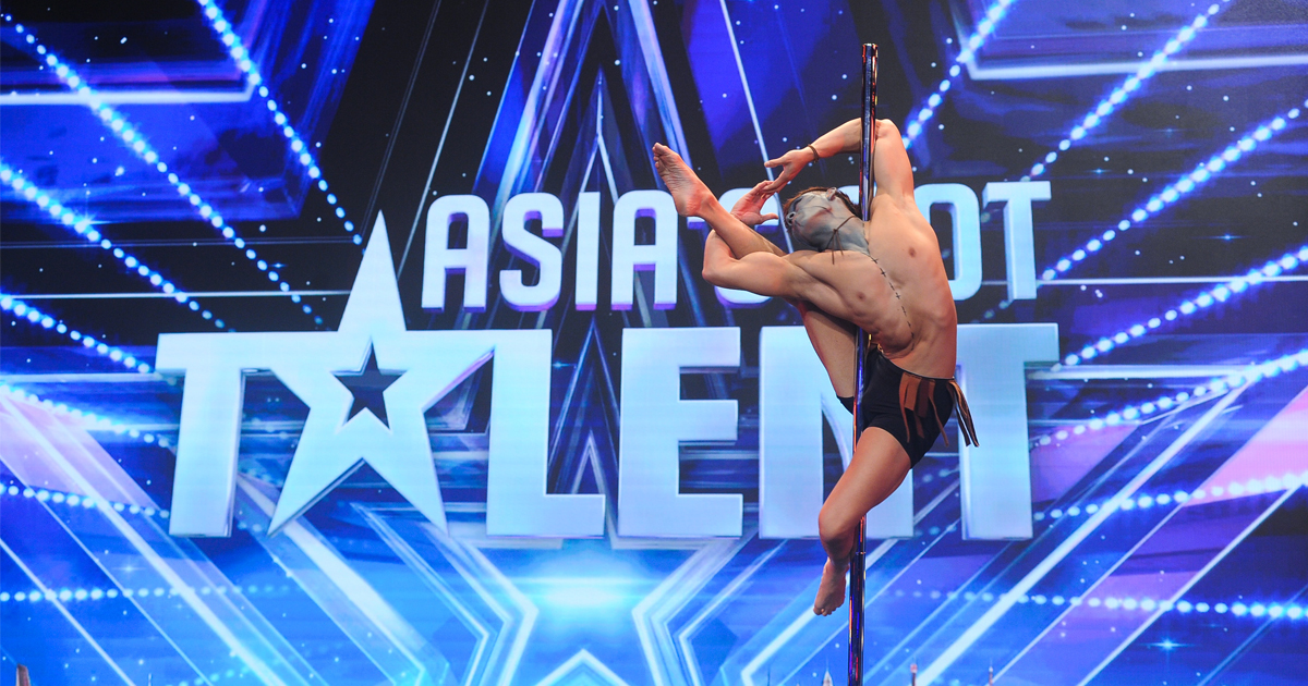 3 Yeses! Male Pole-dancer from Singapore earned the judges votes on Asia's Got Talent - Alvinology
