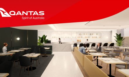 Here's the first look of the new design of Qantas First Class Lounge in Singapore
