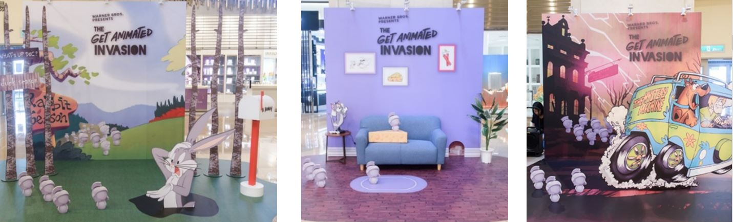 """Join Marvin The Martian and His Clones as they take over Raffles City Singapore with the immersive """"Get Animated Invasion"""" - Alvinology"""