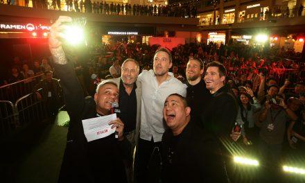 Netflix's Triple Frontier – Ben Affleck, Charlie Hunnam, Garrett Hedlund and Chuck Roven in Singapore