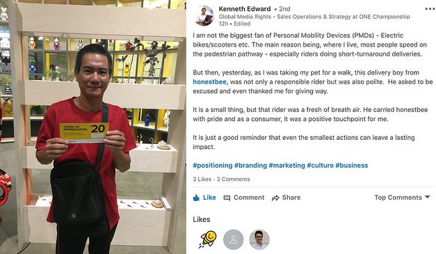 Here's a PMD (e-scooter) story in Singapore with a happy ending