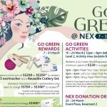 Do your part for the environment with fun-filled activities with Go Green @ NEX