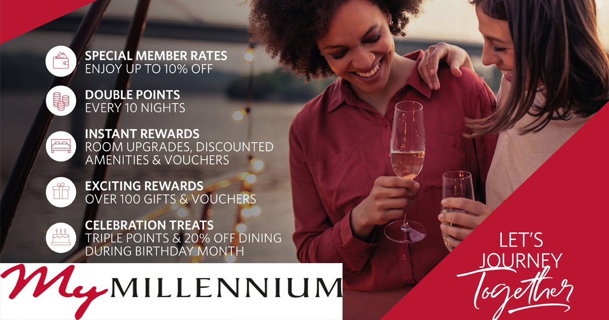 Win a million points with the new My Millennium Guest Reward Programme