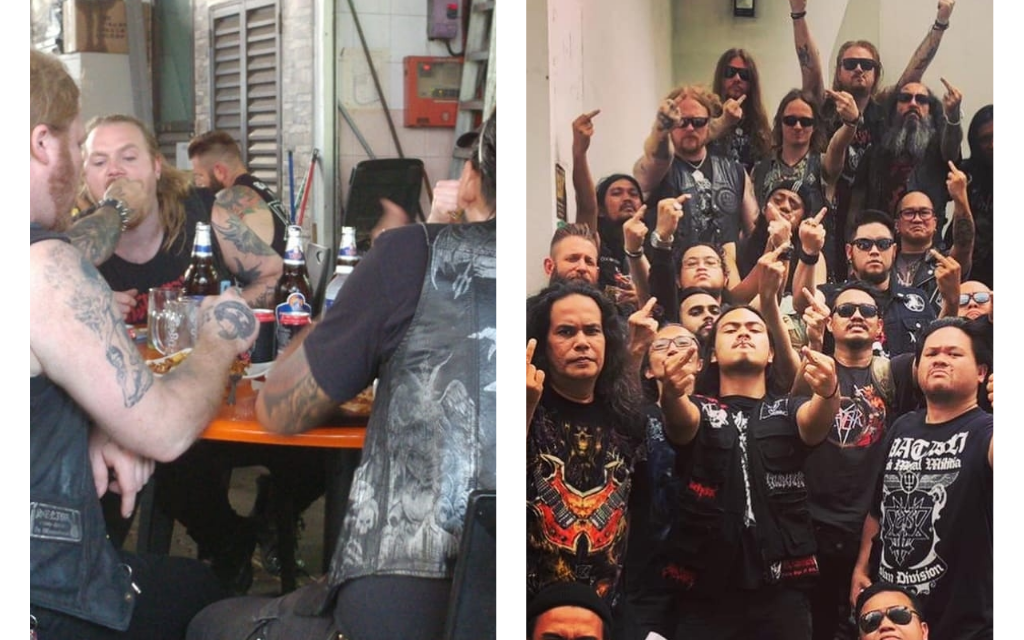 "Watain meets fans in Singapore, goes for kopitiam, claps back at ""honorless rats"" responsible for the ban"