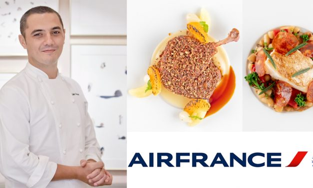 Air France passengers can now have a taste of chef Julien Royer's exceptional dishes