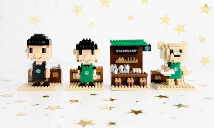 Starbucks Rewards has free drinks and collectible merchandise that lets you build your own kiosk