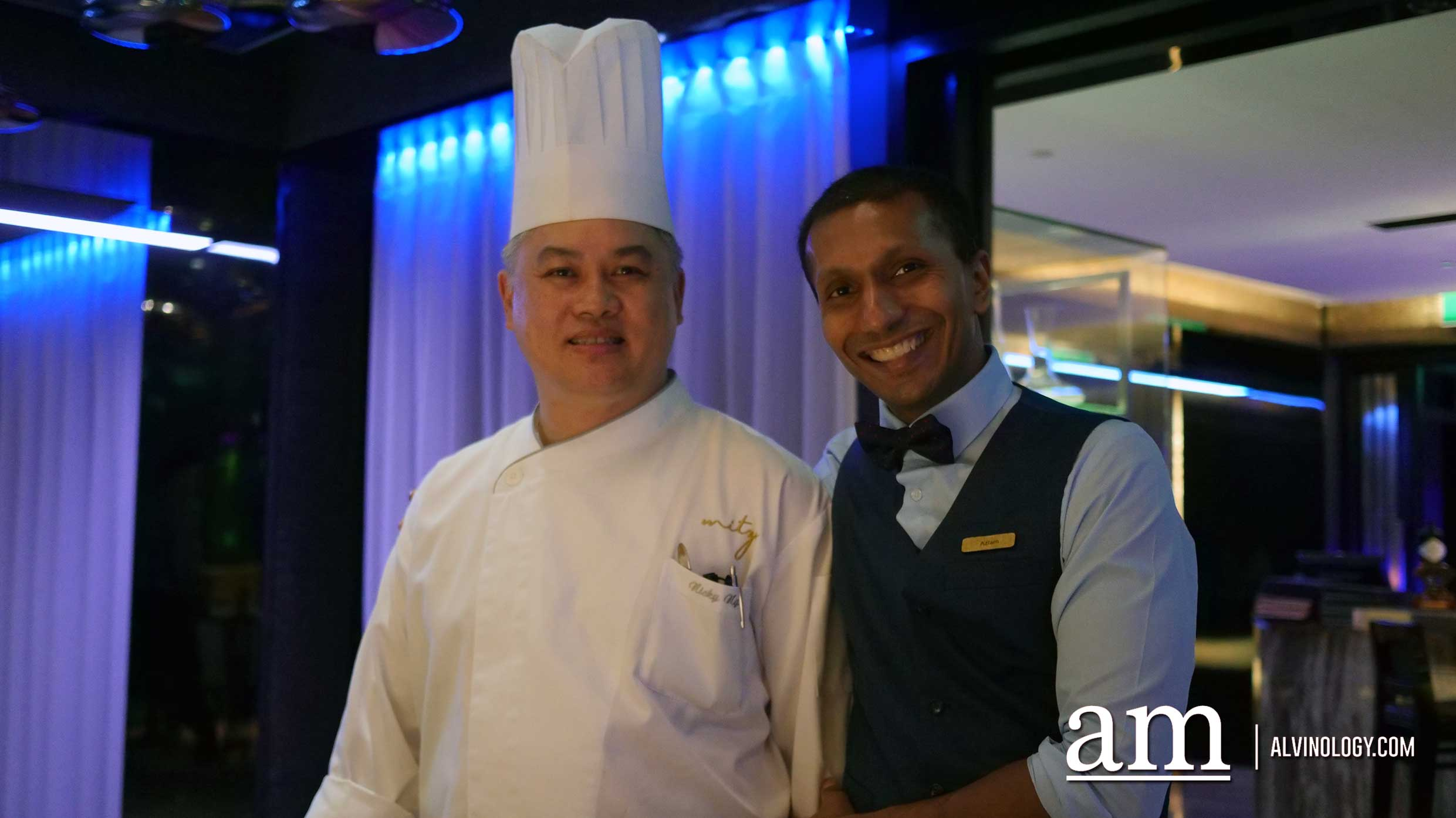 Mitzo's Executive Head Chef Nicky Ng with their Head Bartender
