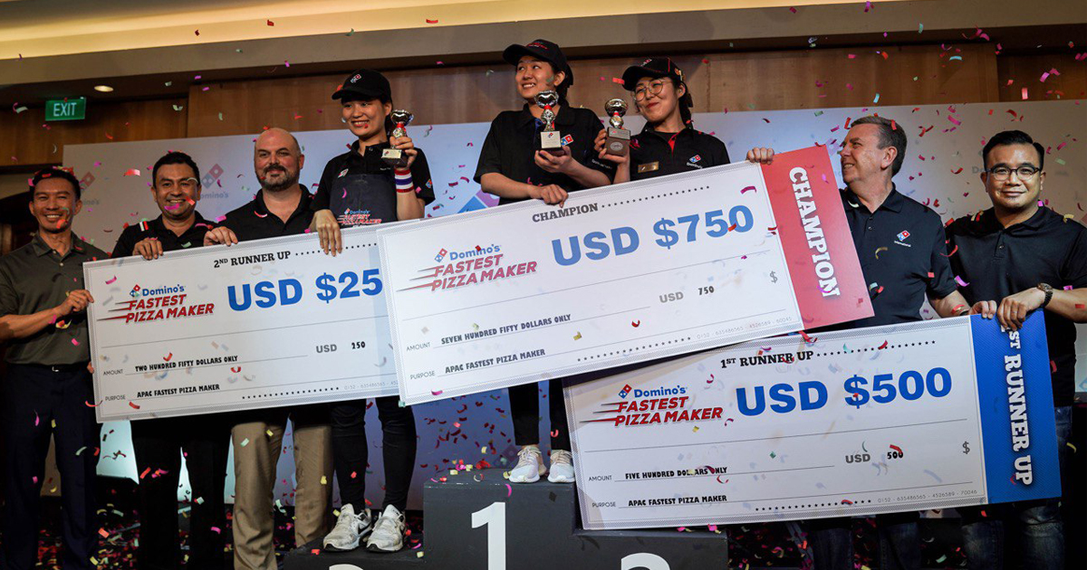 Domino's Pizza crowns My Huynh of Vietnam as the Fastest Pizza Maker in the Asia Pacific