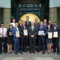 Grand Copthorne Waterfront Hotel Singapore General Manager and team with their numerous awards