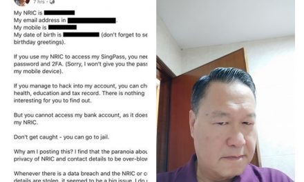 Tan Kin Lian doxxed himself, gets locked out of SingPass