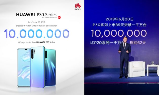Huawei P30 Series reaches 10 million sales globally in a span of 3 months