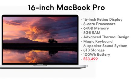 The 16-inch MacBook Pro is finally here – Apple claims it's the World's Best Pro Notebook with a starting price of S$3,499 only!