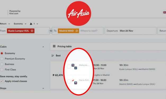 You can now search and book flights from other airlines via the AirAsia website