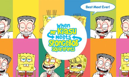 This 'When Mr Kiasu Meets SpongeBob SquarePants' coffee table full-colour book is a must-have for all fans!