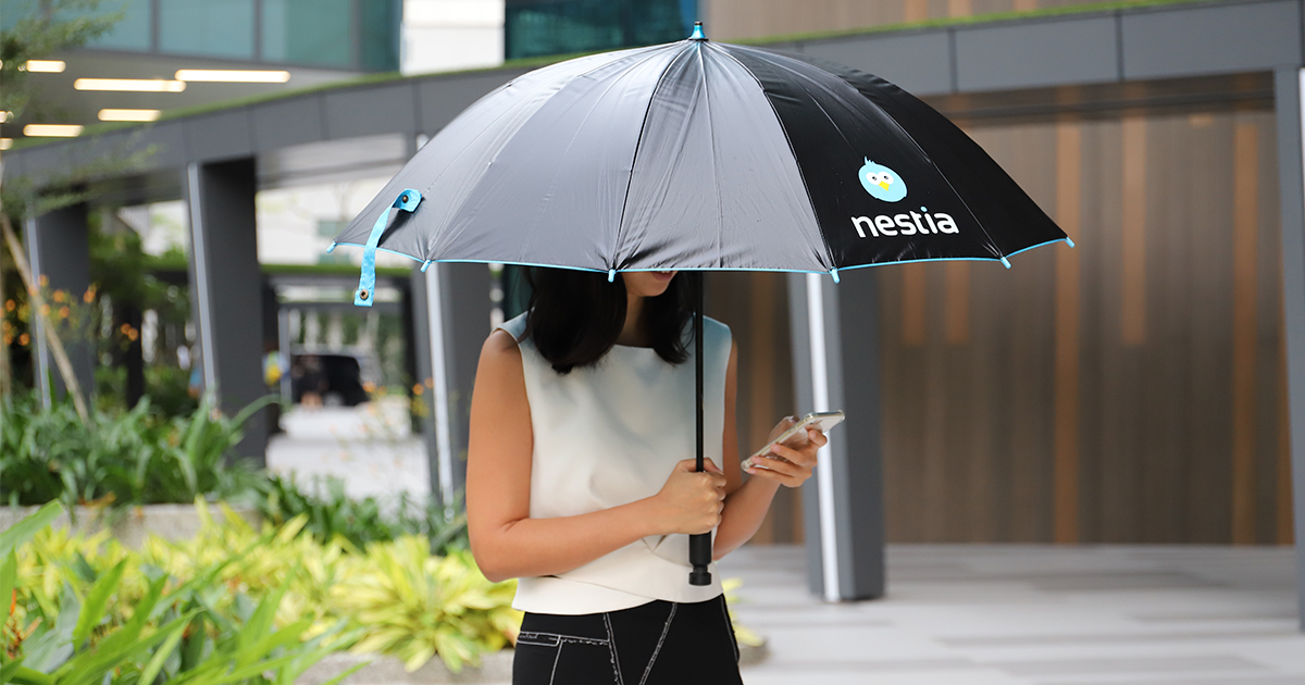 Nestia Shared Umbrellas is FREE during the rainy season (for the first 24 hours) - Alvinology