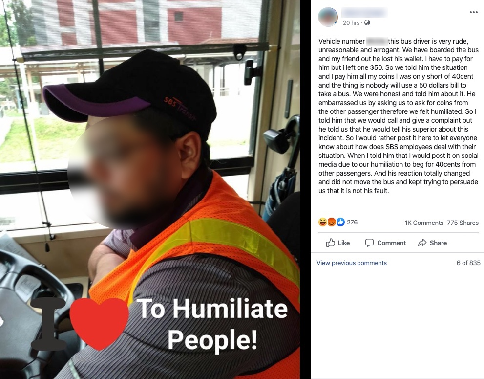 Cheapskate commuter's bid to shame bus driver over 40 cents backfires spectacularly - Alvinology
