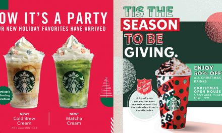 Visit Starbucks today, 5 December, and enjoy half price on any Christmas beverage of any size!