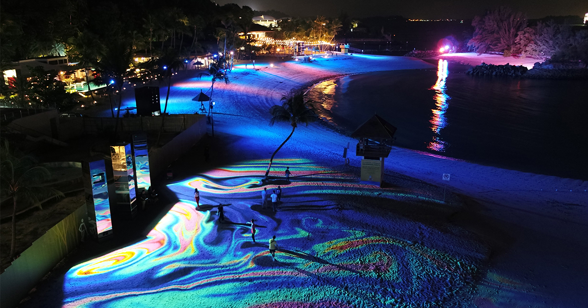 Sentosa unveils Magical Shores at Siloso - Immersive light and sound attraction, free all year round! - Alvinology