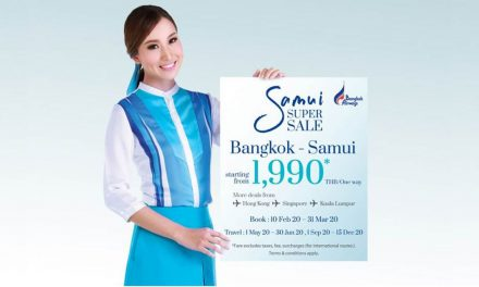 "Announcing Bangkok Airways ""Samui Super Sale"" – get at least 99 SGD per way to and from Samui this 10 February – 31 March 2020"