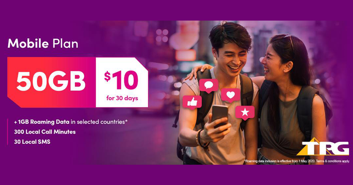[PROMO] TPG offers $10 no-contract mobile plan with 50GB data, 300 minutes local calls, and 30 local SMS - Alvinology