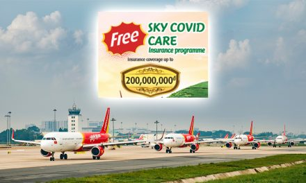 Vietjet offers SKY COVID CARE insurance covering approximately US$857 to US$8,570 benefits for all passengers – see details
