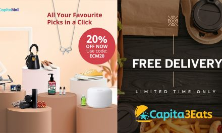 [PROMO] Enjoy 20% off on eCapitalMall and free delivery on Capita3Eats – now with over 280 online merchants to browse!