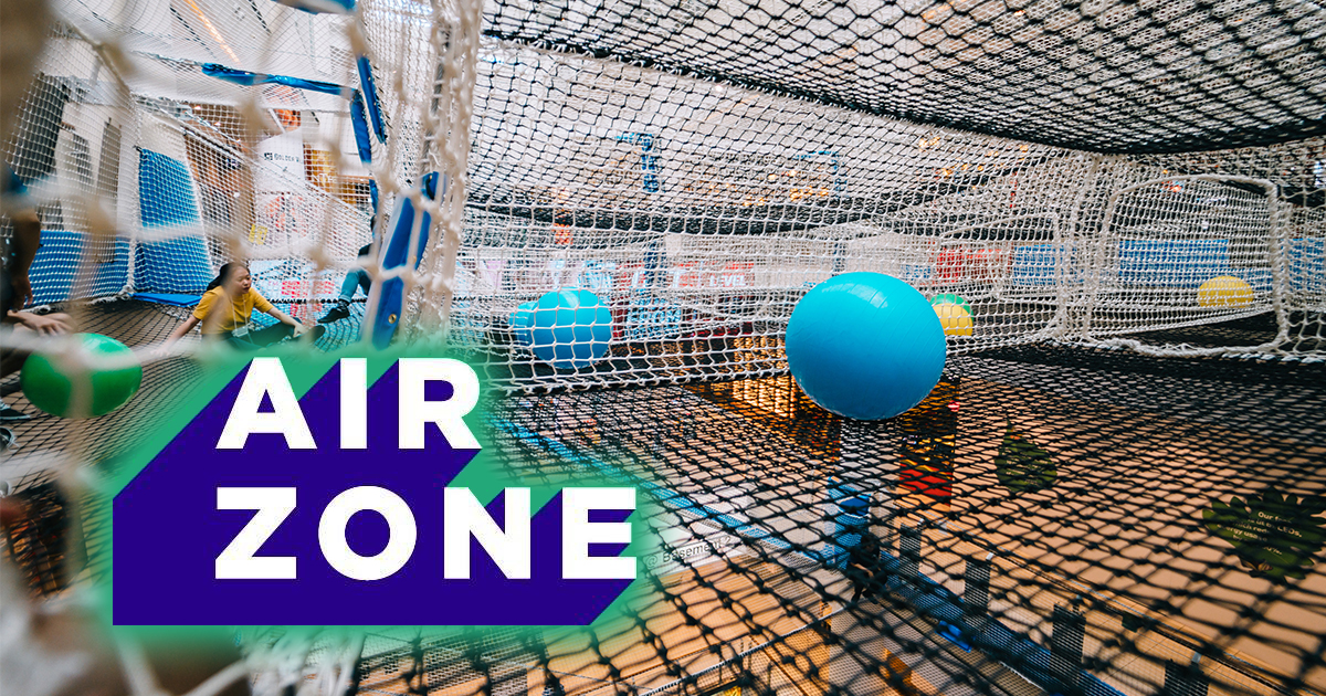 Airzone – the world's first indoor suspended net playground is now open!
