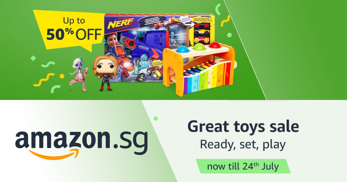 Amazon Great Toy Sale – save up to 50% off on toys, games, educational toys, action figures, and more!