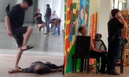 45-year-old man arrested for brutalizing unconscious victim in Sengkang over work
