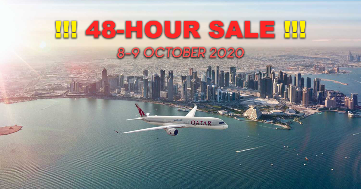 [PROMO] Qatar Airways announces Special 48-Hour Sale! Offering fares from SGD 799 and double Qmiles on 8 and 9 October 2020! - Alvinology