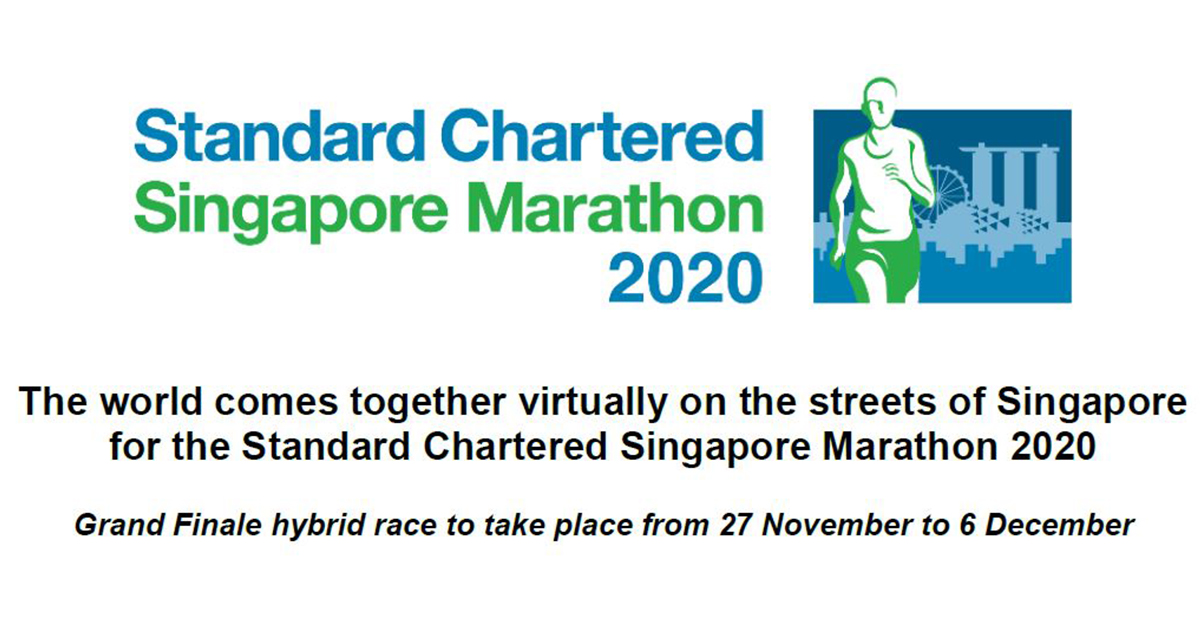Standard Chartered Singapore Marathon 2020 - Grand Finale hybrid race to take place from 27 November to 6 December, REGISTRATION IS FREE! - Alvinology