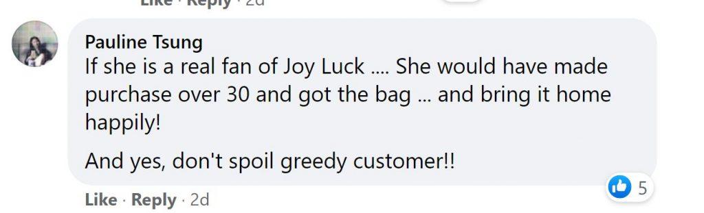Robert Chua calls out customer's complaints over free bag at Joy Luck Tea House - Alvinology