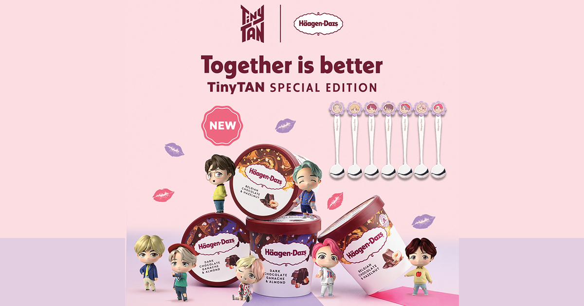 Don't hold back on sharing Häagen-Dazs and get in the spirit of togetherness with special edition collectables of BTS character TinyTAN! - Alvinology